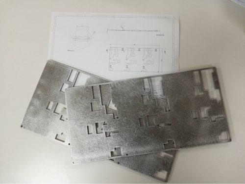 corte de chapa aluminio agua frio